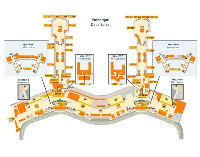 terminal 2 GRU airport transporte van e carro