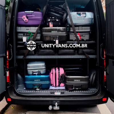 Van com bagageiro gigante para 11 passageiros, aluguel de vans para o aeroporto de congonhas