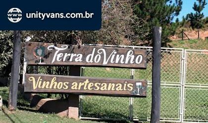 Vinícola Terra do Vinho aluguel de vans com motorista para o roteiro do vinho