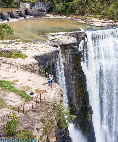 Cachoeira gigante em Prudentópolis