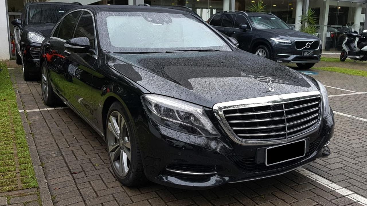 Mercedes s500 presidencial luxo em são paulo transfer aeroporto diária