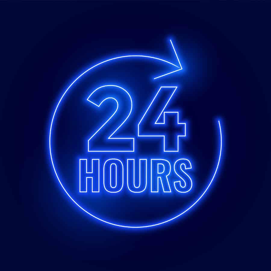 suporte 24 horas mantido