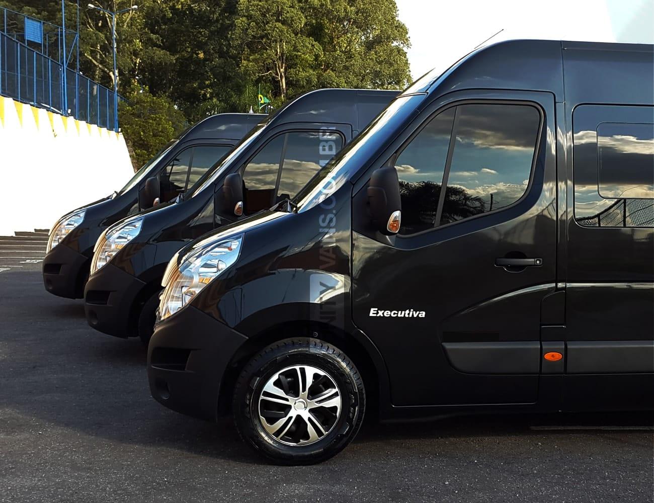 transporte executivo em sp Luxo com Van e JETVAN
