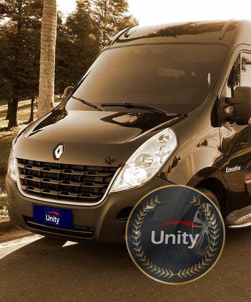 Logistica de transporte executivo Unity Vans